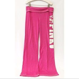 PINK VS boyfriend pants foldable waist MEDIUM